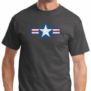 Distressed Air Force Star Mens Shirts