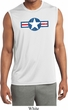 Distressed Air Force Star Mens Sleeveless Moisture Wicking Shirt