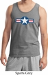 Distressed Air Force Star Mens Tank Top