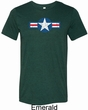 Distressed Air Force Star Mens Tri Blend Crewneck Shirt