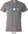 Distressed Air Force Star Mens Tri Blend V-neck Shirt
