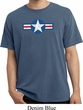 Distressed Air Force Star Pigment Dyed Shirt