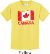 Distressed Canada Flag Kids Shirt