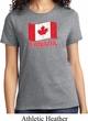 Distressed Canada Flag Ladies Shirt