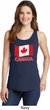 Distressed Canada Flag Ladies Tank Top