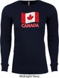Distressed Canada Flag Long Sleeve Thermal Shirt