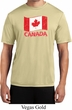Distressed Canada Flag Mens Moisture Wicking Shirt