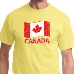 Distressed Canada Flag Mens Shirts