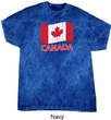 Distressed Canada Flag Mineral Tie Dye Shirt
