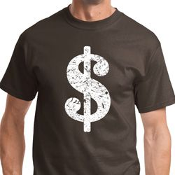 Distressed Dollar Sign Mens Funny Shirts