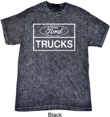 Distressed Ford Trucks Adult Mineral Tie Dye Shirt