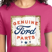 Distressed Genuine Ford Parts Ladies Shirts