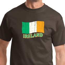 Distressed Ireland Flag Mens St Patrick's Day Shirts