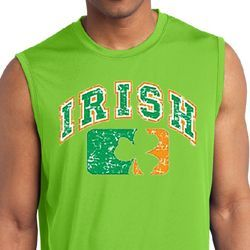Distressed Irish Shamrock Mens Shirts