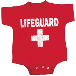Distressed Lifeguard Baby Onesie