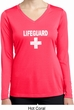 Distressed Lifeguard Ladies Dry Wicking Long Sleeve Shirt