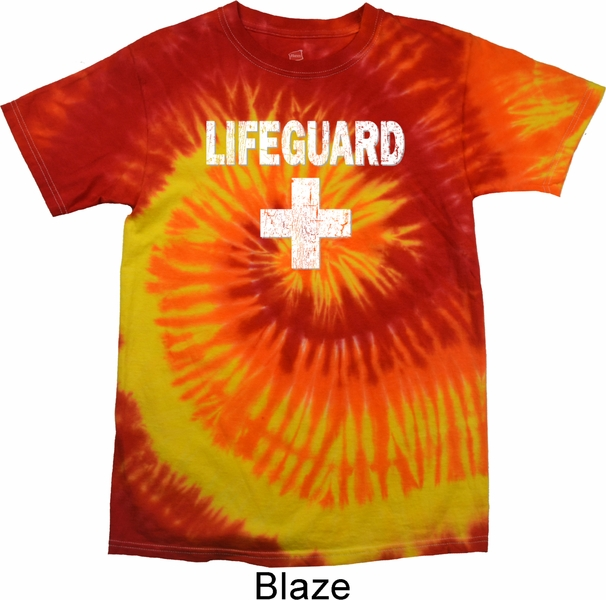 efd3ee32628 Distressed Lifeguard Tie Dye Shirt - Distressed Lifeguard Mens Shirts