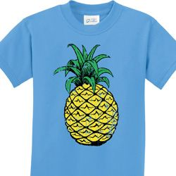 Distressed Pineapple Kids Shirts