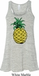 Distressed Pineapple Ladies Flowy Racerback Tanktop