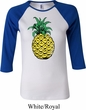 Distressed Pineapple Ladies Raglan Shirt