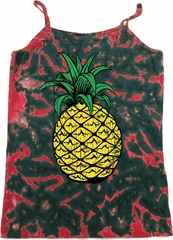 Distressed Pineapple Ladies Tie Dye Camisole Tank Top