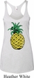 Distressed Pineapple Ladies Tri Blend Racerback Tank Top