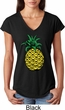 Distressed Pineapple Ladies Tri Blend V-Neck Shirt
