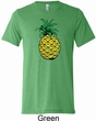 Distressed Pineapple Mens Tri Blend Crewneck Shirt
