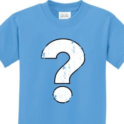 Distressed Question Kids Shirts