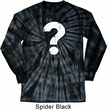 Distressed Question Long Sleeve Tie Dye Shirt
