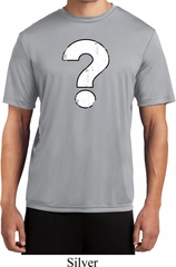 Distressed Question Mens Moisture Wicking Shirt