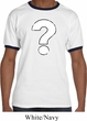 Distressed Question Mens Ringer Shirt