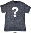 Distressed Question Mineral Tie Dye Shirt