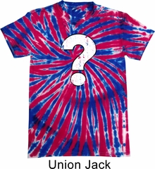 Distressed Question Patriotic Tie Dye Shirt