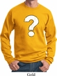 Distressed Question Sweat Shirt