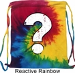 Distressed Question Tie Dye Bag