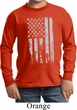 Distressed Stars and Stripes Flag Kids Long Sleeve Shirt