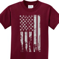Distressed Stars and Stripes Flag Kids Shirts