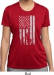 Distressed Stars and Stripes Flag Ladies Moisture Wicking Shirt