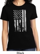 Distressed Stars and Stripes Flag Ladies Shirt