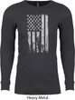 Distressed Stars and Stripes Flag Long Sleeve Thermal Shirt