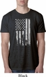 Distressed Stars and Stripes Flag Mens Black Burnout Shirt