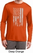 Distressed Stars and Stripes Flag Mens Dry Wicking Long Sleeve Shirt