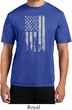 Distressed Stars and Stripes Flag Mens Moisture Wicking Shirt