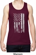 Distressed Stars and Stripes Flag Mens Moisture Wicking Tanktop
