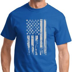 Distressed Stars and Stripes Flag Mens Shirts