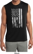 Distressed Stars and Stripes Flag Mens Sleeveless Dry Wicking Shirt