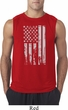 Distressed Stars and Stripes Flag Mens Sleeveless Shirt