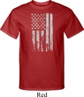 Distressed Stars and Stripes Flag Mens Tall Shirt