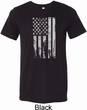 Distressed Stars and Stripes Flag Mens Tri Blend Crewneck Shirt